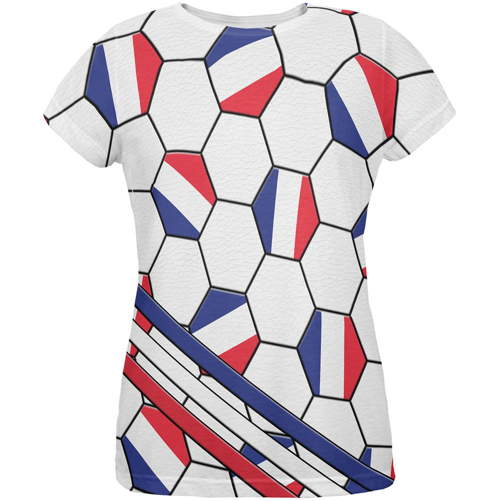 World Cup France Soccer Ball All Over Womens T Shirt