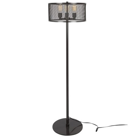 Indy Mesh Industrial Floor Lamp in Antique by LumiSource