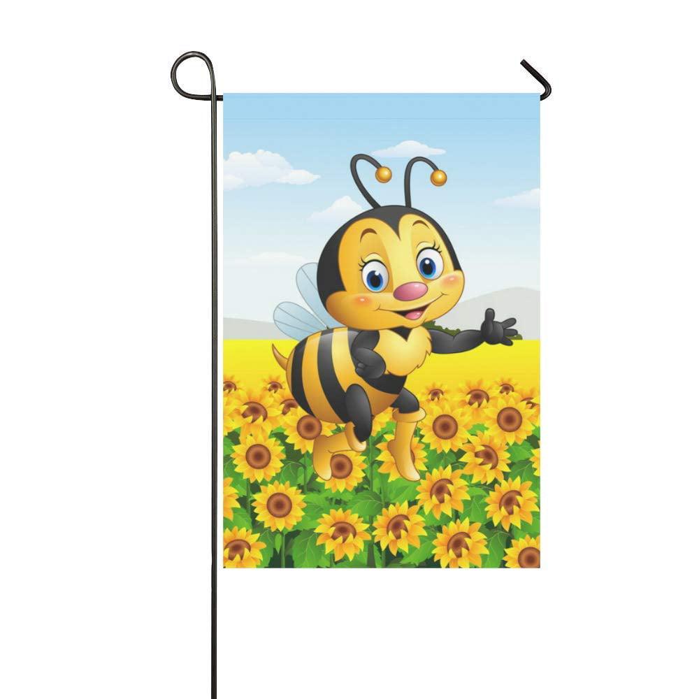 Yusdecor Cartoon Bee Sunflower Garden Flag Outdoor Flag 12x18 Inch Walmart Canada