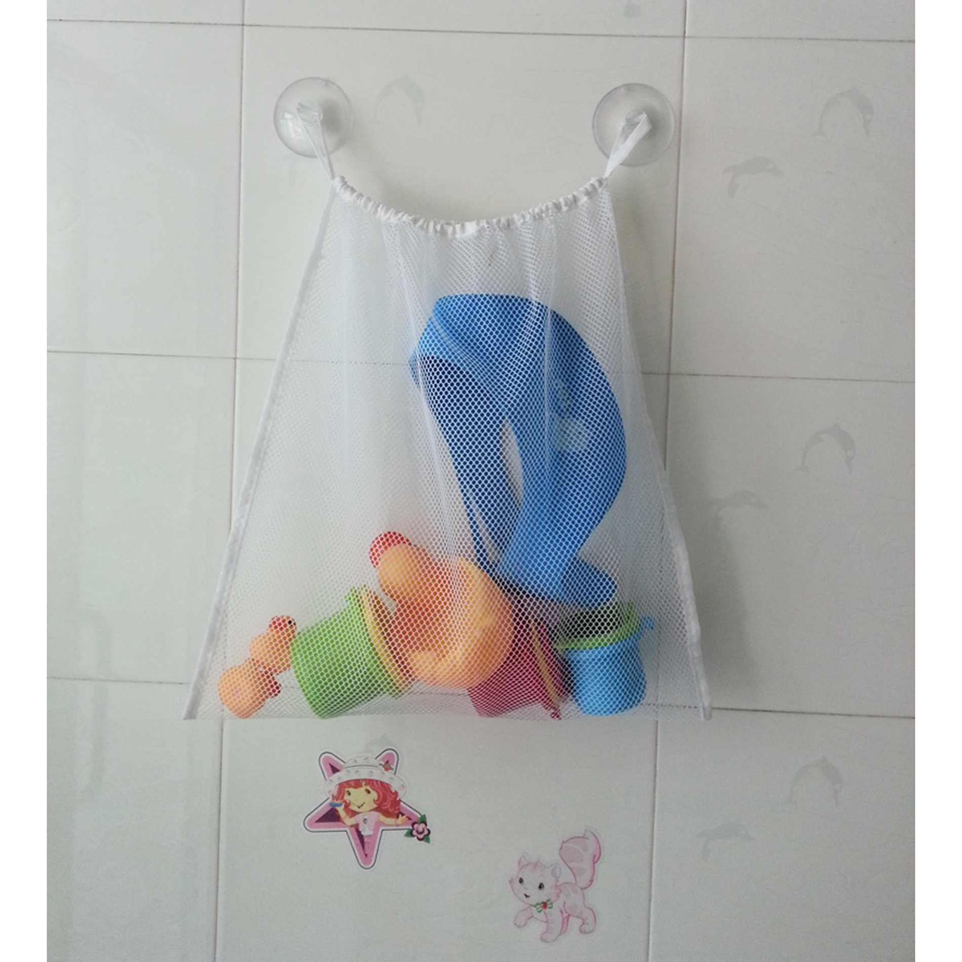 "Kids Baby Toddler Bath Toys Organizer Holder Hanging Storage Mesh Bag 18""x14""... by Unbranded"
