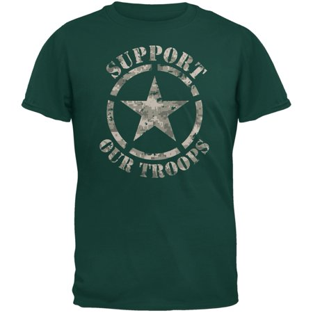 Support Our Troops Camo Star Forest Green Adult (Forest Green Camo)