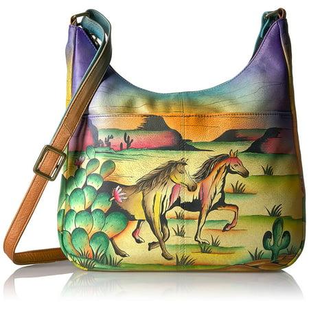 9f11a9830cb2 anuschka anna handpainted womens leather medium shopper bag-arizona mustang  handbag