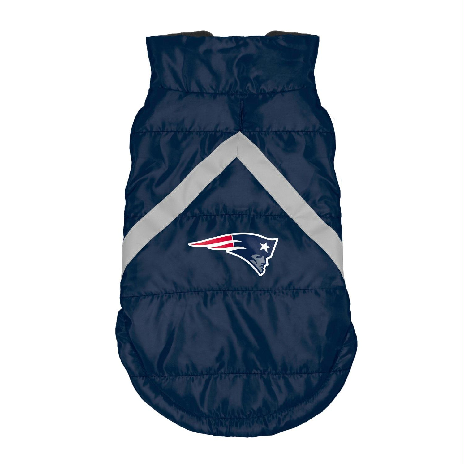 New England Patriots Pet Puffer Vest - Small