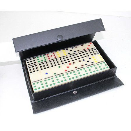 Gambling Dominoes Double 9 Color Dot In Snap Vinyl Case