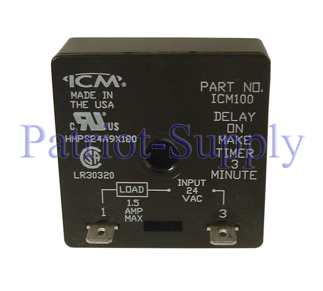 ICM Controls ICM100 Delay-on-Make Timer with 3-minute fixed delay, 18-30 VAC