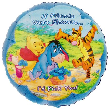 Winnie the Pooh 'If Friends Were Flowers' Foil Mylar Balloon (1ct)](Winnie The Pooh Mylar Balloons)