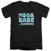 Saturday Night Live SNL Mega Babe Mens V-Neck Shirt