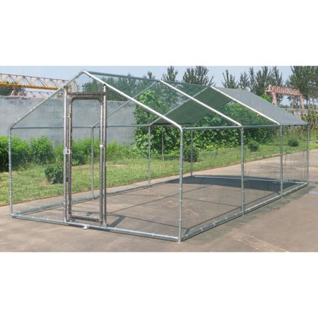 ChickenCoop Outlet Large Metal 20x10 ft Chicken Coop Backyard Hen House Cage Run Outdoor