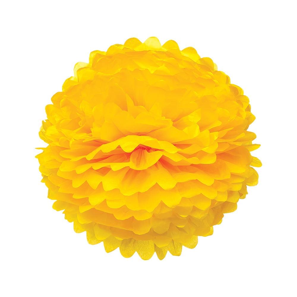 Luna Bazaar Tissue Paper Pom Pom (20-Inch, Marigold Yellow)