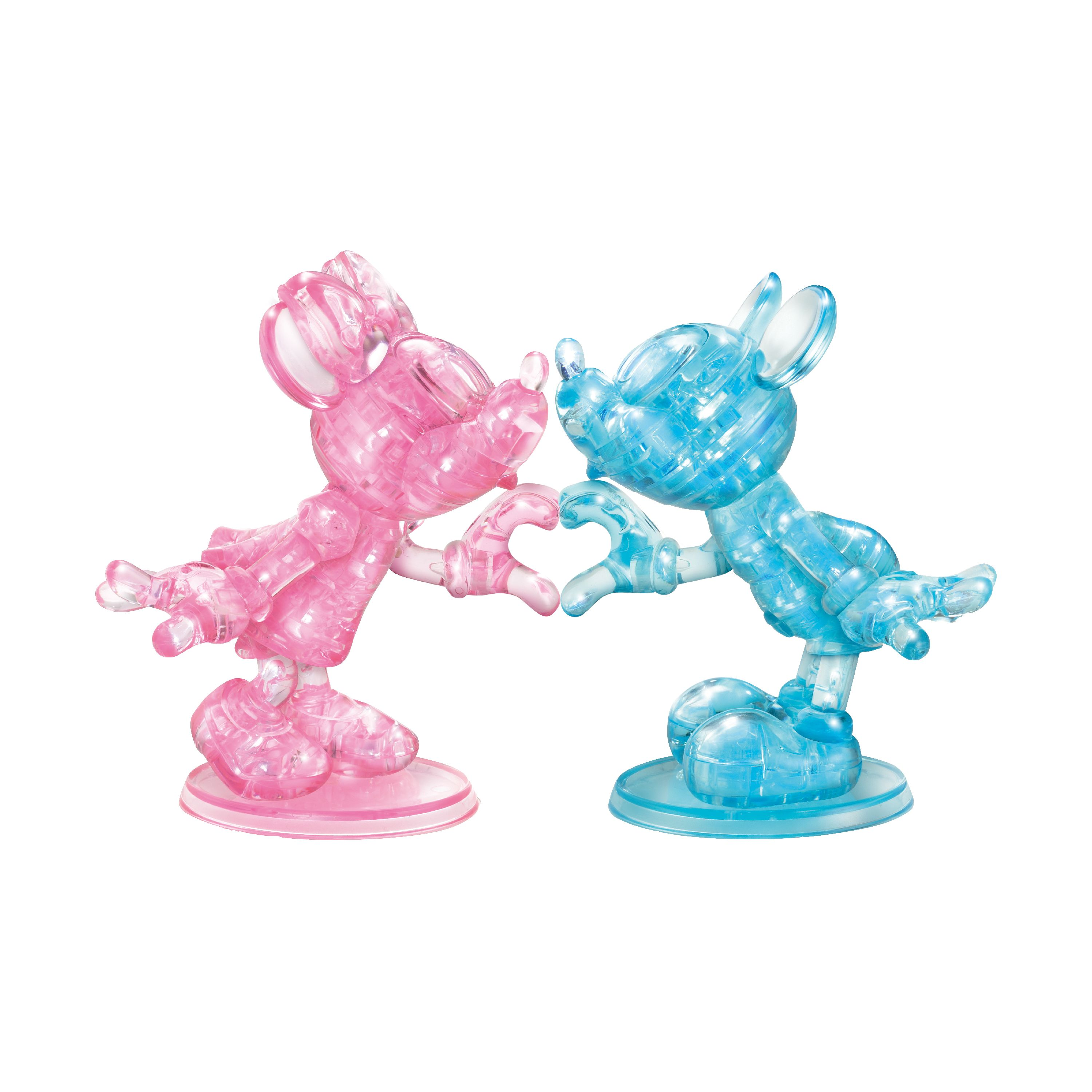 Deluxe Disney 3D Crystal Puzzle - Minnie and Mickey Mouse Heart, 68 Pcs
