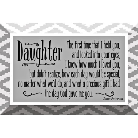 Daughter Glass Plaque with Easel 4 inches x 6 - Stain Glass Plaque