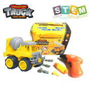 Take Apart Toys with Electric Drill | Toddler DIY Assembly Construction Truck | Building Toys Gifts for Boys & Girls Age 3yr-6yr | Kids Stem Building Toy Age 4,5