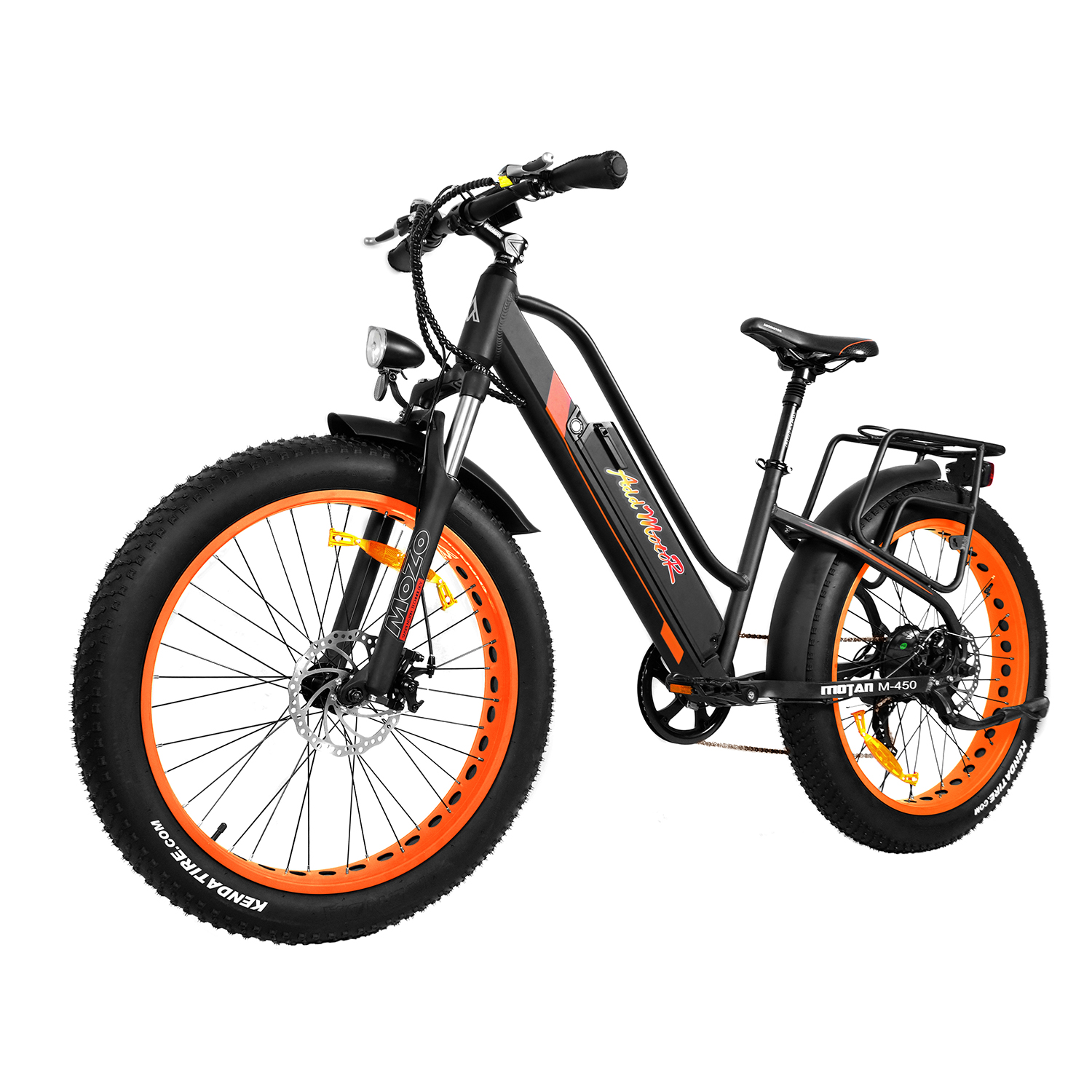 Addmotor MOTAN Electric Bicycle Bike 26In Fat Tire Women Electric Bike Full Suspension 500W Motor M-450 2018 E-bike