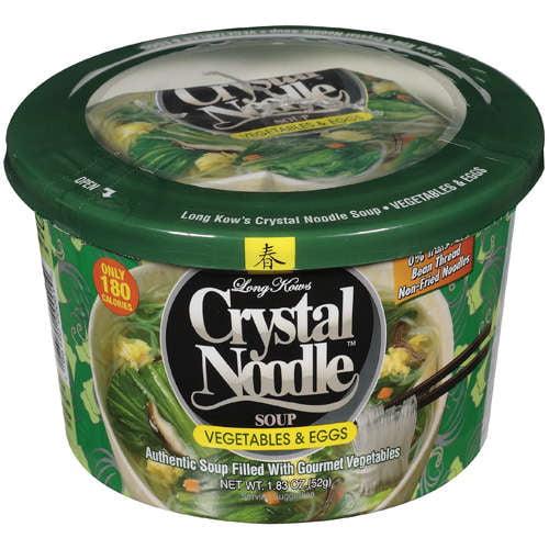 Long Kows Vegetables & Eggs Crystal Noodle Soup, 1.83 Oz