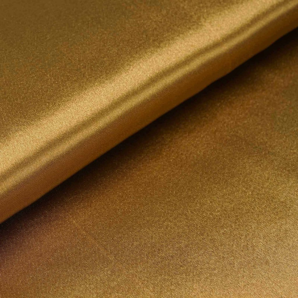 "54"" Wide x 10 yards Satin Fabric Bridal Bolt - Gold"