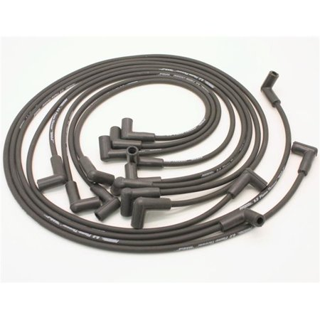 Pertronix 808280HT 8 mm Flame-Thrower Universal Cylinder Ceramic Boot Spark Plug Wires - Black