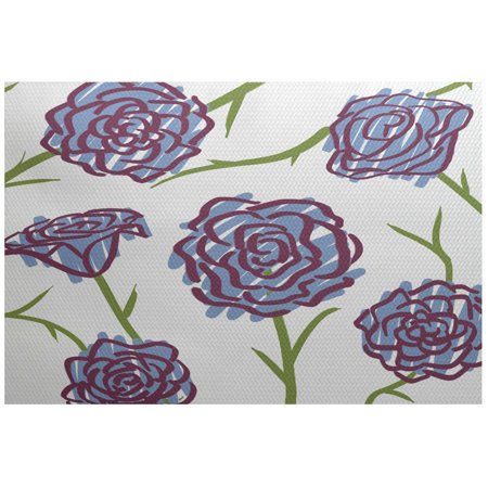 - Simply Daisy 3' x 5' Spring Floral 1 Floral Print Indoor Rug