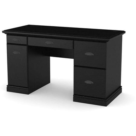best service 524a0 0e8b9 Better Homes and Gardens Computer Desk with Filing Drawers, Black Ebony Ash