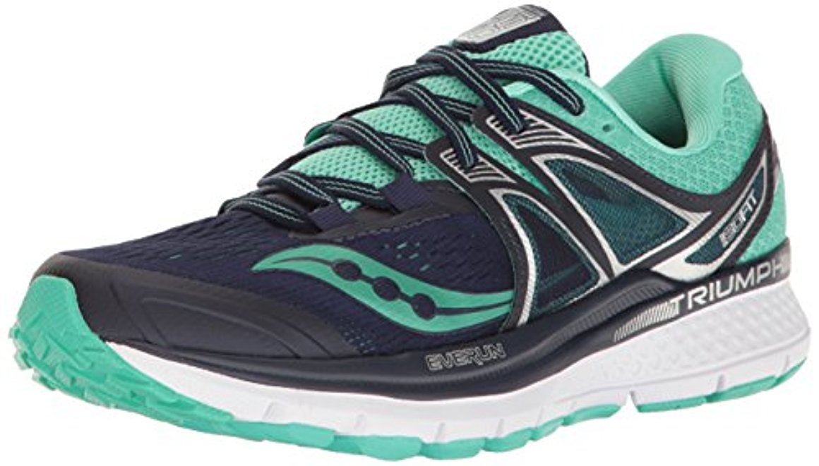 Saucony Women's Triumph Iso 3 Running-Shoes, 6.5 B(M) US, Navy Blue by Saucony