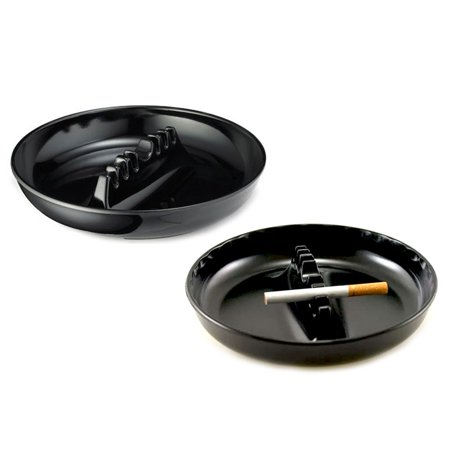 Octagonal Ashtray (2X Melamine Ashtrays Restaurant Style Cigarette Cigar Holder 7