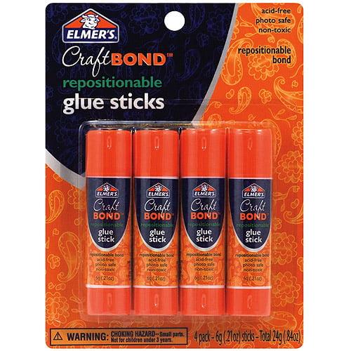 Elmer's Repositionable Glue Sticks, 4pk, .21 oz