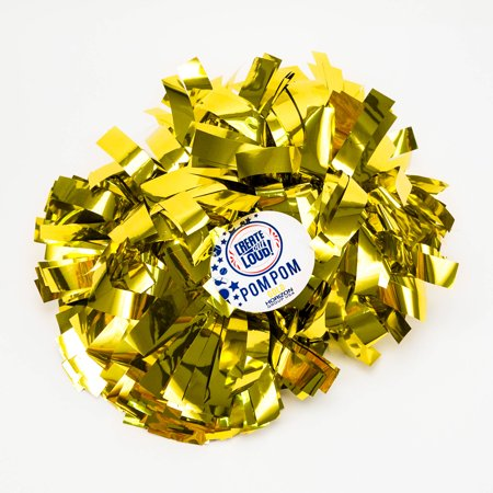 Horizon Group Create Out Loud Gold Pom Pom, 1 Each