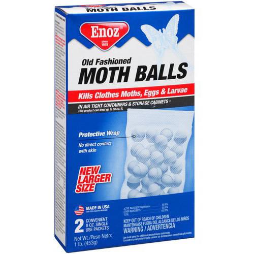 Enoz Old Fashioned Moth Balls, 8 oz, 2 ct