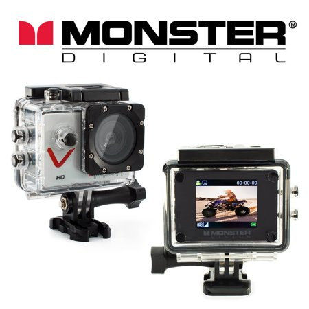 Monster Vision Sport Action Camera 720p 30fps Includes Accessories