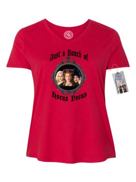 613d9c87 Product Image Hocus Pocus Movie Halloween Shirt Plus Size Womens V Neck T- Shirt Top