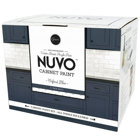 Nuvo Oxford Blue Cabinet Makeover Paint Kit (Best Paint Color For Espresso Cabinets)