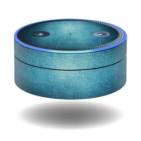 MightySkins Protective Vinyl Skin Decal for Amazon Echo Dot (1st Generation) wrap cover sticker skins Blue Swirls