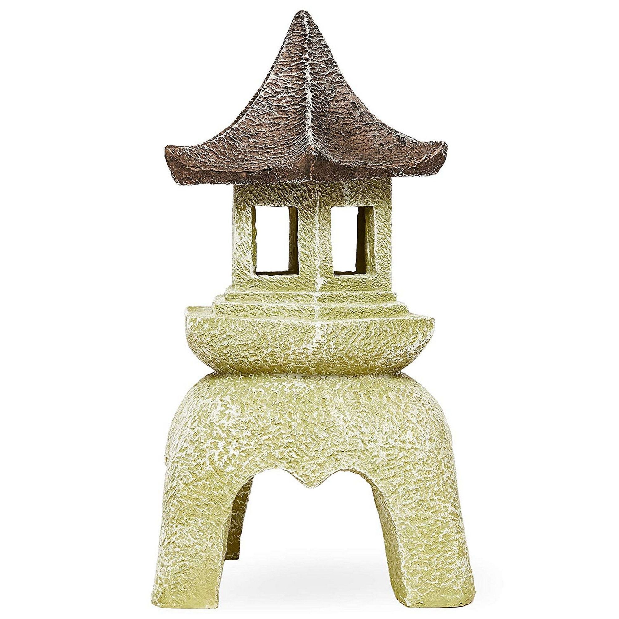 Outdoor Asian Pagoda Candle Lantern Statue For Home And Garden