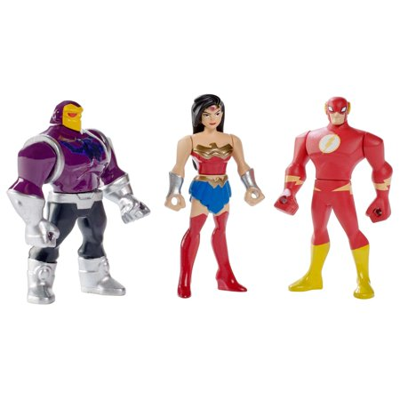 Justice League Action Mighty Mini 3-Pack Figures - Wonder Woman, The Flash and Mongul - Justice League Cake