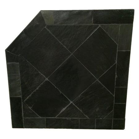 HearthSafe Black Slate Corner Hearth