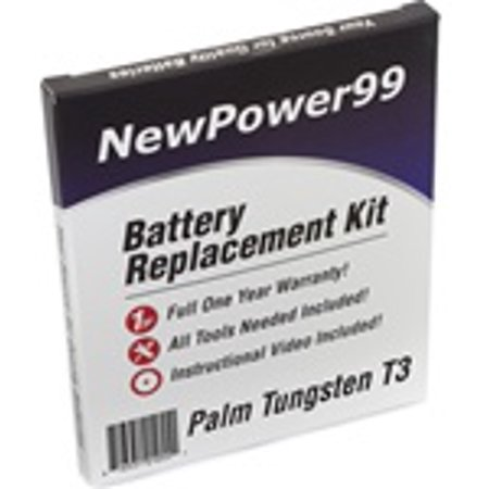 Tungsten Replacement Battery - Palm Tungsten T3 Battery Replacement Kit with Tools, Video Instructions, Extended Life Battery and Full One Year Warranty