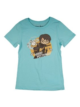 a5d778157 Product Image Quidditch Chibi Harry Potter Character Glitter Graphic T-Shirt  (Little Girls & Big Girls