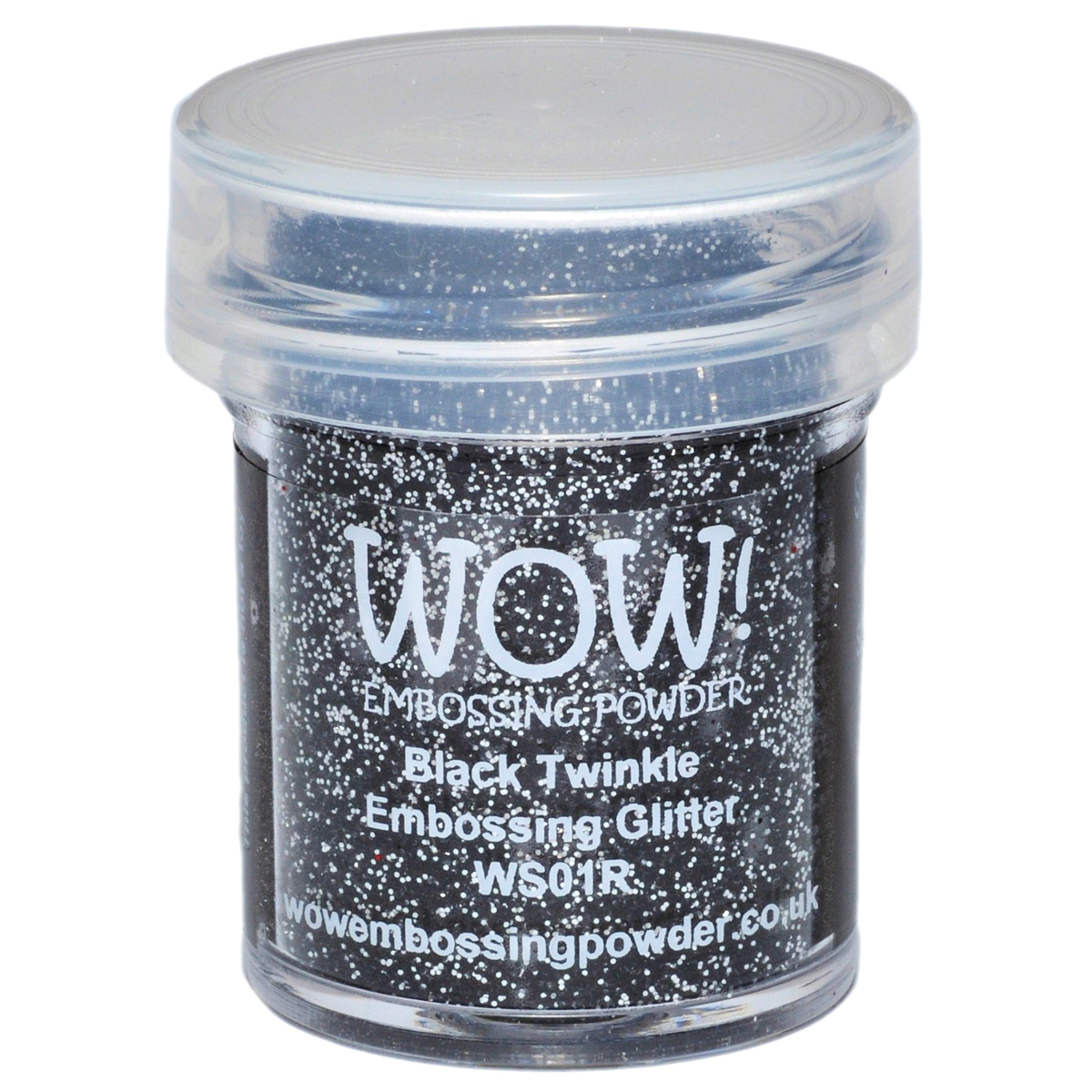 WOW! Embossing Powder 15ml-Black Twinkle