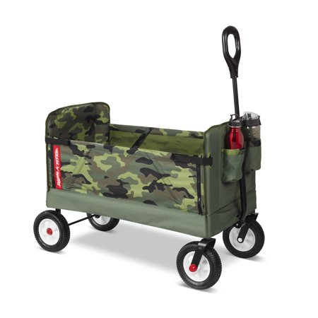 Radio Flyer, 3-in-1 Off-Road EZ Fold Camo Wagon, Folding Wagon