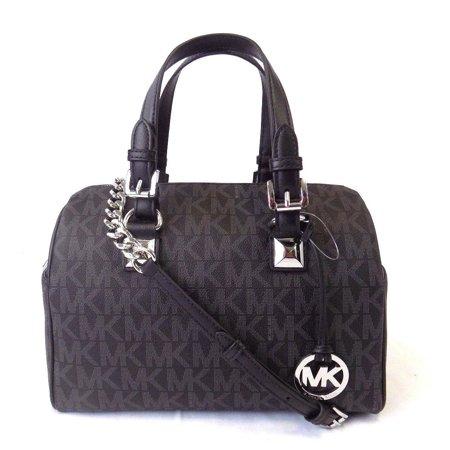 New Michael Kors Grayson Medium Chain Leather Satchel Handbag Bag Purse