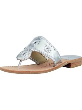 cc681f17a221 Product Image Jack Rogers Women s Hamptons Flat Leather Silver Ankle-High  Sandal - 7M