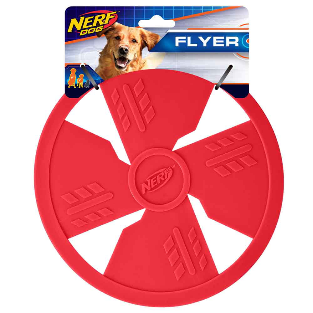 NERF® TPR Flyer Pet Toy - Red - 10''