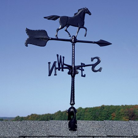24 Horse Accent Weathervane, Black