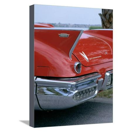1957 Cadillac Eldorado Biarritz Stretched Canvas Print Wall (1958 Cadillac Eldorado Biarritz Convertible For Sale)
