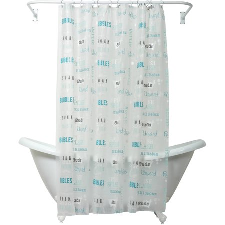 Zenna Home India Ink Bubble Bath Peva Shower Curtain Liner