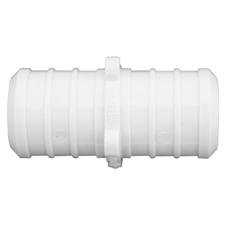 3 4 Plastic White PEX Coupling Lead FreePartNo C76705 JonesStephens