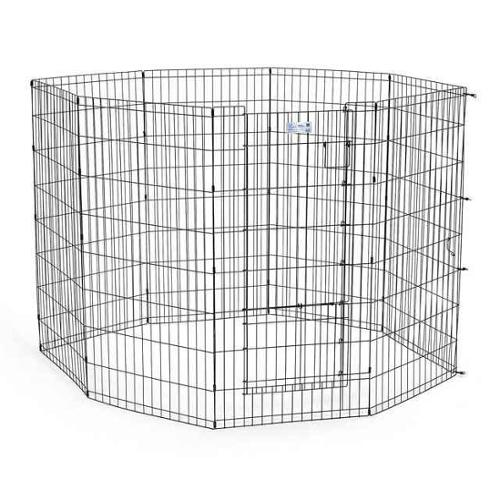 Pet Exercise Pen with Split Door (30 in. L x 24 in. W)