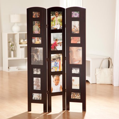 Memories Photo Frame Room Divider - Rosewood 3 Panel ()