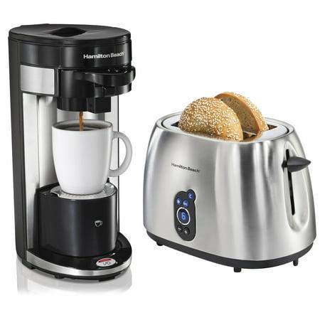 Hamilton Beach FlexBrew Ground & K-Cup Coffee Maker + 2-Slice Digital Toaster - Walmart.com