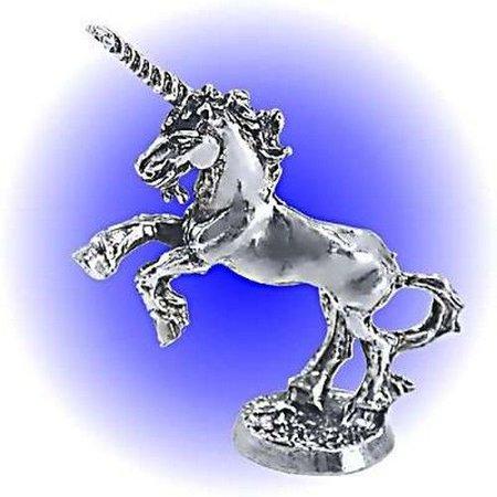 082-155 Rearing Sire Unicorn Pewter Figurine - Lead Free - Lead Figurine Magazine