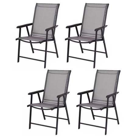 Costway Camping Deck Garden Folding Chair (Set of 4) ()